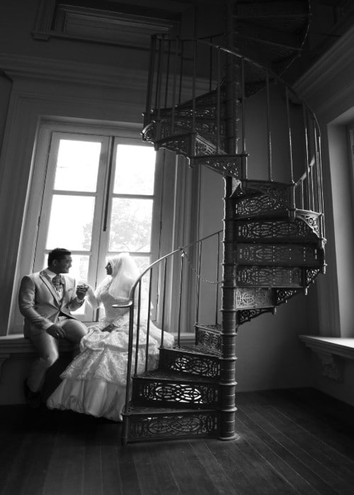 couple in wedding gown by MEA wedding and photoshoot