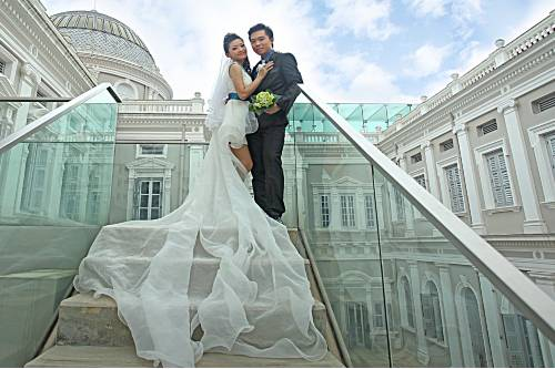Custom made wedding gown services in Singapore