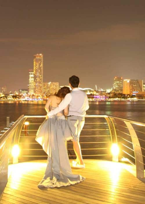 wedding couple night photo shoot in singapore