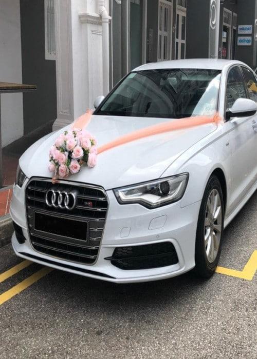 audi bridal car renting service in singapore